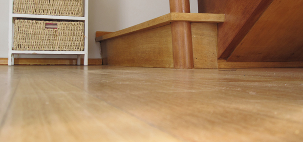 hardwood floor and stairs