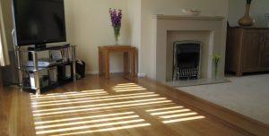 well kept hardwood floor